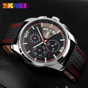 Men's Watches military sport Quartz Hour Date Leather Strap-GKandaa.net