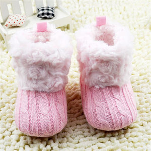 Girls' Winter Boots Crochet Toddler Snow - Gkandaa.net