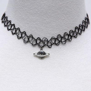 Collares Vintage Stretch Choker Necklace Outfits  Punk Retro GothicGKandaa.net
