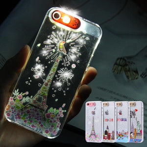 Case Cover for iPhone Called Sese LED Flash Light Smart 5 5S SE City-GKandaa.net