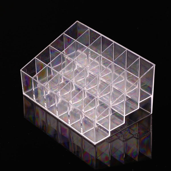 1pcs Clear Acrylic 24 Lipstick Holder Display Stand Cosmetic Organizer Makeup Case Hot Selling - GKandAa