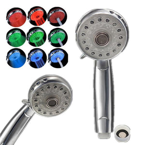 Bathroom Accessories 3 Color LED Shower Temperature Product-GKandaa.net