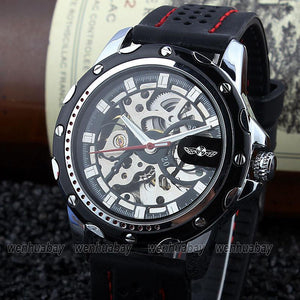 Men's Watches Self-winding Automatic Gear Rubber B Cool M105-GKandaa.net