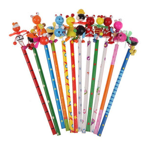 Wooden Baby Toys 22.5cm Cartoon Windmill Pencil Animal-GKandaa.net