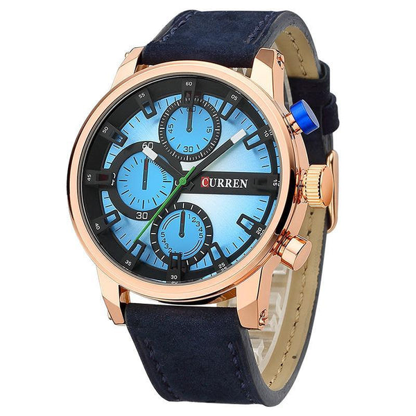 Men's Watches Luxury Quartz Genuine Leather-GKandaa.net