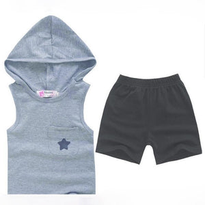 Baby Clothing Sets Summer Five-star Hoodie Cotton+Pants babies 1-6Y-GKandaa.net