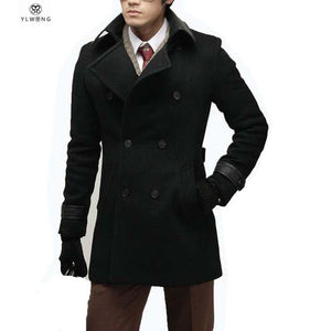 Men's Coats Jackets Wool Winter Long-GKandaa.net