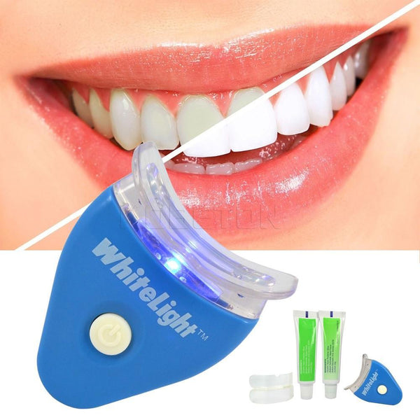 1 Set NEW Hot White LED Light Teeth Whitening Tooth Gel Whitener Health Oral Care Toothpaste Kit for Personal Dental Treatment - GKandAa