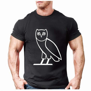Men's T-Shirts Fashion Summer Owl  bird Printed Short Sleeve-GKandaa.net