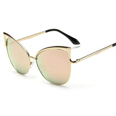 Women's Sunglasses Cat Eyes Eye Mirror Colors glass-GKandaa.net
