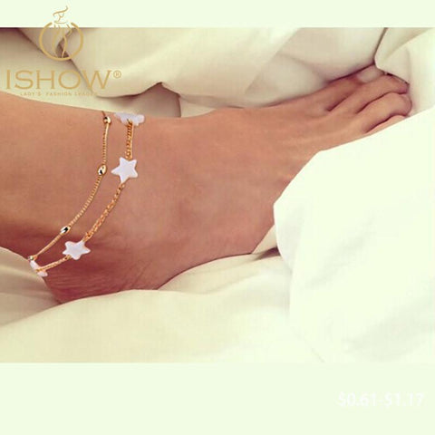Women's Anklets bracelet foot jewelry heart For Ankle-GKandaa.net