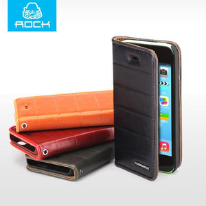 Case Cover for iPhone ROCK Retro Real genuine leather 5c Luxury-GKandaa.net