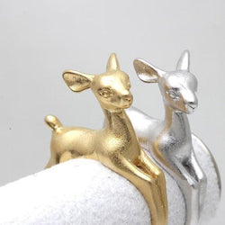 1pc Adjustable Bambee Ring Animal Deer Ring in Gold Jewelry Retro Wholesale Ring Wedding Rings for Women Free Shipping R335 - GKandAa