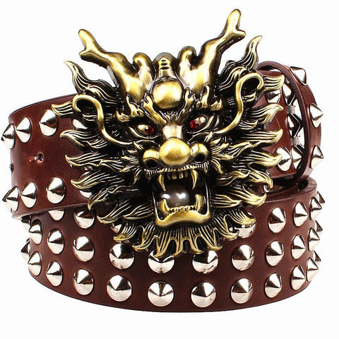 Men's Belts big rivet head heavy metal-GKandaa.net