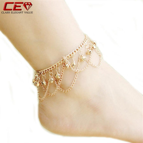Anklets for Women Bracelet Gold Plated For Ankleanzellina.myshopify.com