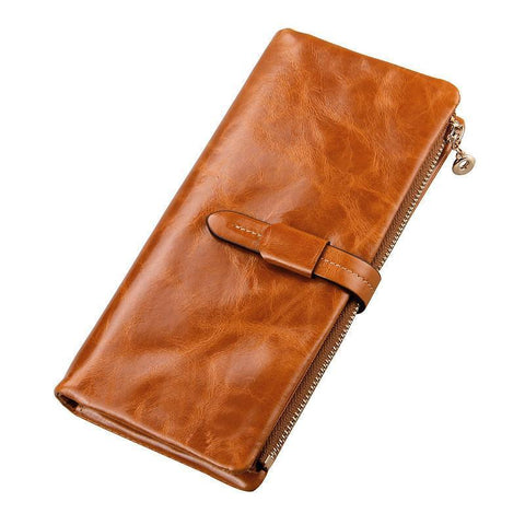 Women's Wallets genuine leather Real Cow Leather - Gkandaa.net