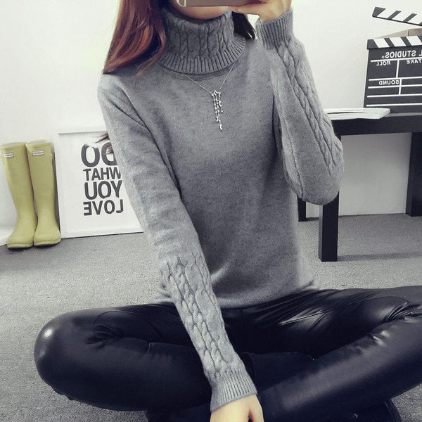 Women's Pullovers slim sweater-GKandaa.net