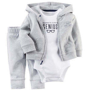 Clothing Sets coat+body+pat 3 pcs boy set