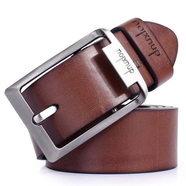 Hot Men's Black/Brown Waistband Business Faux Leather Pin Buckle Belt Straps - GKandAa - 1
