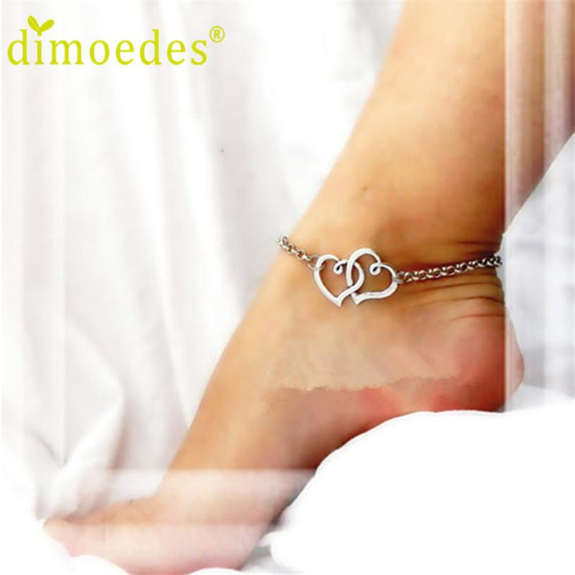 Anklets for Women Deal Double Heart Bracelet Lady 1pc For Ankleanzellina.myshopify.com