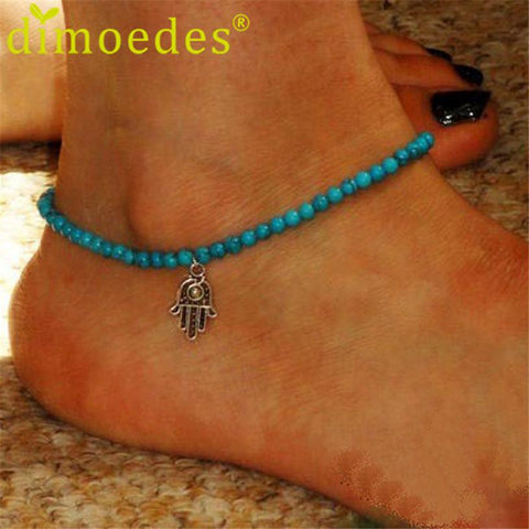 Anklets for Women Beads foot jewelry bracelet 1pcs For Ankleanzellina.myshopify.com