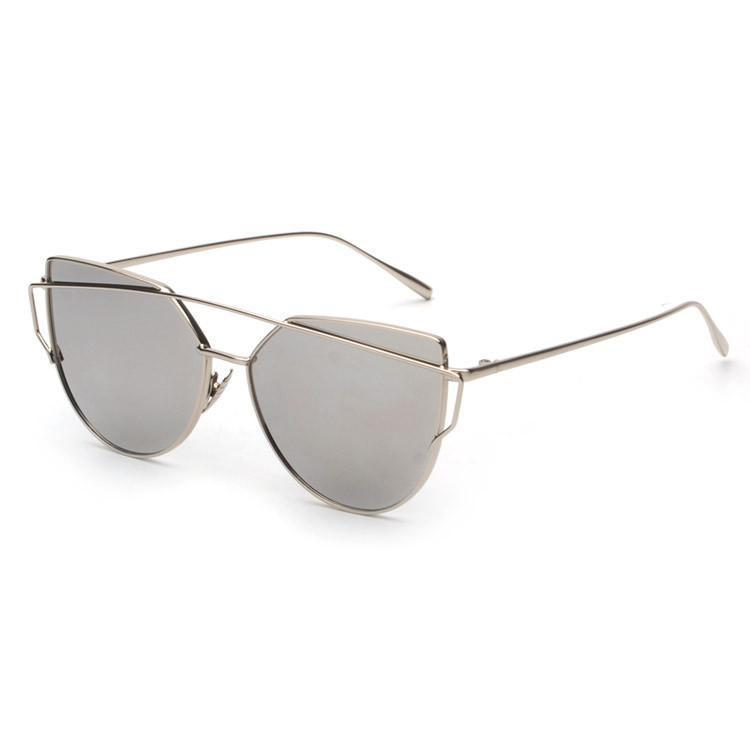 Women's Sunglasses NEW Metal Frame vintage Mirror Shades-GKandaa.net