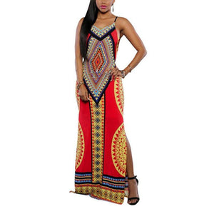 Maxi Dresses Sexy Print  Long Dress Plus Size - GKandaa.net