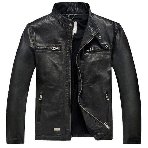 Men's Leather Jackets F genuine Real Coat Spring-GKandaa.net
