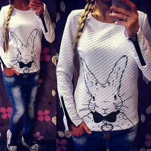 Women's Pullovers Rabbit Outerwear sweater-GKandaa.net