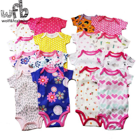 Baby Bodysuits Retail 0-2yrs 5pcs/pac short-Sleeved jumps-GKandaa.net