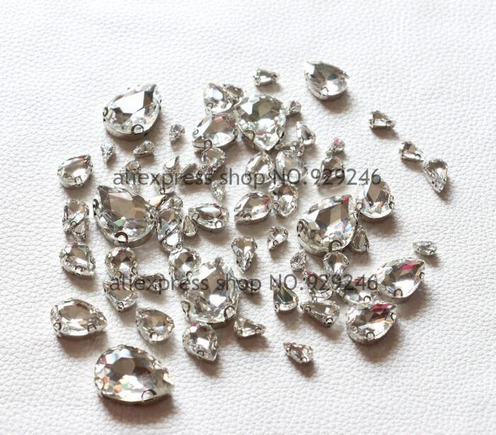 Art Supplies 47pcs/pac fashion water drop claw rhinestones crystal s-GKandaa.net