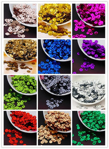 Art Supplies 1000pcs 8mm Cup round Paillettes -based s 15 Colorsanzellina.myshopify.com