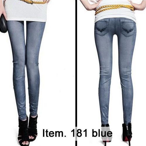 Women's Jeans Imitate Blue color 20-GKandaa.net