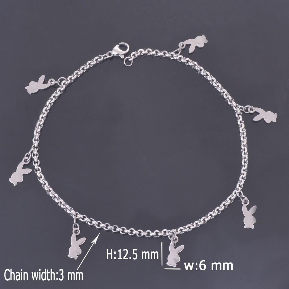 Women's Anklets with Sl Rabbit stainless Steel Bracelet A008 For Ankle-GKandaa.net
