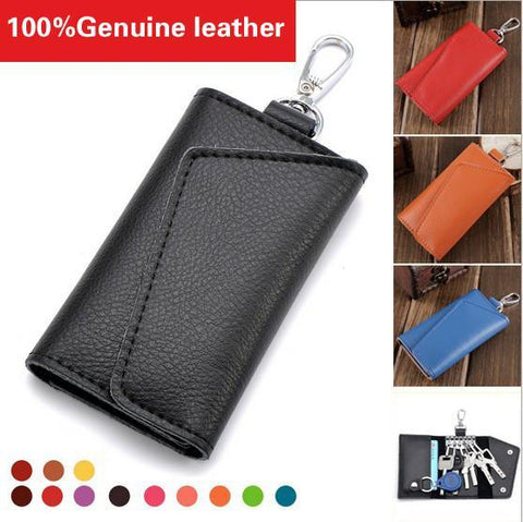Wallets Key Holder 100% genuine leather Solid Key Organizer-GKandaa.net