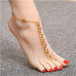 Anklets for Women Round 100% Natural Stone For Ankleanzellina.myshopify.com