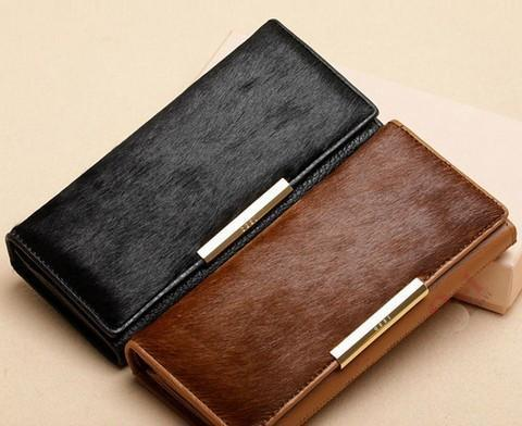 Women's Wallets quality genuine leather Real horse hair-GKandaa.net