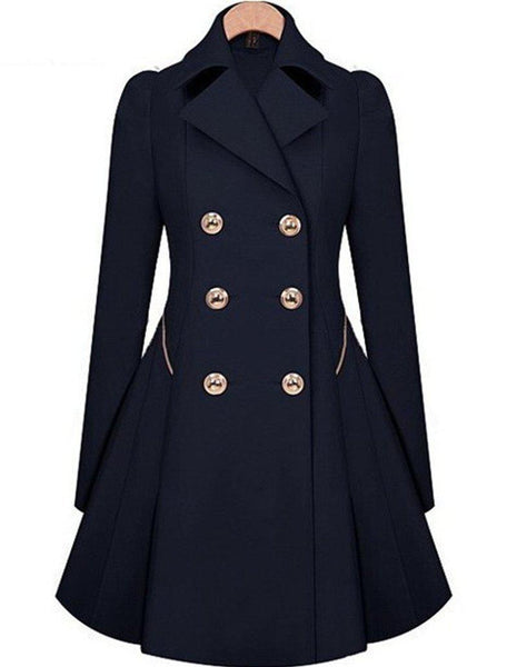 Women Trench Classic waist was coat-GKandaa.net