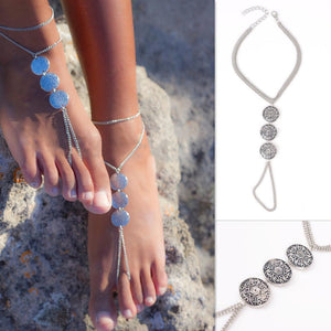 Women's Anklets 5066 Plated Cycle Multi Layer Bracelet For Ankle-GKandaa.net