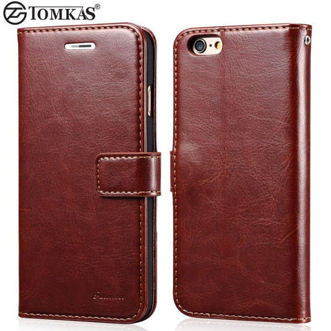 Case Cover for iPhone Wallet Leather 6 6S / 6 6S Plus Luxury-GKandaa.net