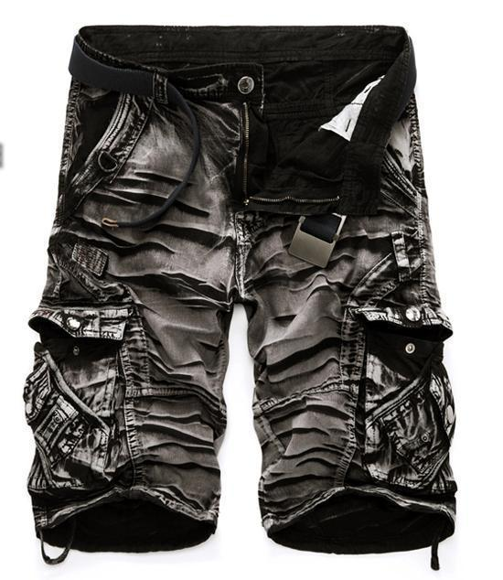 Men's Shorts casual loose cargo large size multi-pocket pants overalls-GKandaa.net