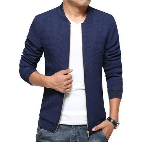 Men's Jackets Collar Slim Fit Spring Casual Solid Outdoor Coats Up Size 4XL N556 - GKandaa.net