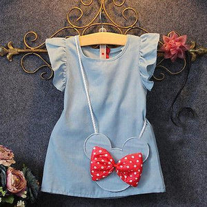 Baby Dress Toddlers Solid Mouse sleeveless + Baganzellina.myshopify.com