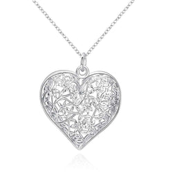 Free Shipping New Sale silver necklaces & pendants Sand Flower big necklace prices in euros cp218 - GKandAa