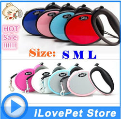 BEST Pet Dog Leash Retractable dog Collar leash Products Dog Harness Dele Pet Dog Chain Collars 25kg-40kg Red Girl - GKandAa - 1