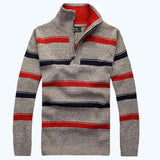 Men's Sweaters, Collar With Zipper Sleeve Strip Pull 55 - GKandaa.net