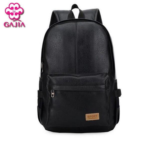 Backpacks Bags America Solid high quality leather computer School-GKandaa.net