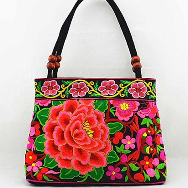 Shoulder Bags Floral Vintage Embroidery Handbags-GKandaa.net