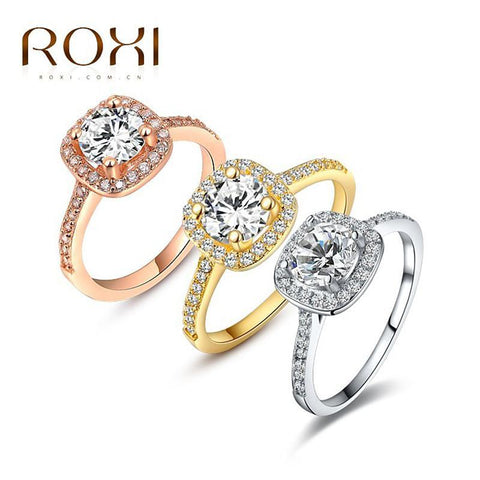 Rings Platinum/ Rose Gold Plated AAA zirconium-GKandaa.net