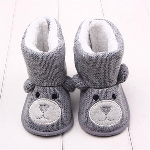 Baby Shoes Winter Snow Boots Toddler Girl Knitted Footwear-GKandaa.net